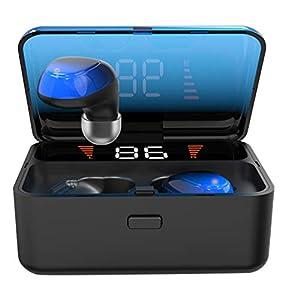 iplusmile Drahtlose Ohrhörer Touch Control Kopfhörer Sport-Ohrhörer Headset mit Ladestation Geräuschunterdrückung In-Ohr-Ohrhörer