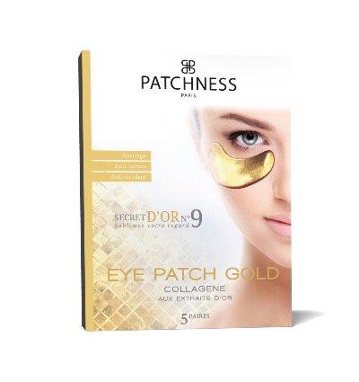 PatchnessEye Patch Gold, cerotti antiage al collagene, agliestratti d'oro, confezione da 5 paia