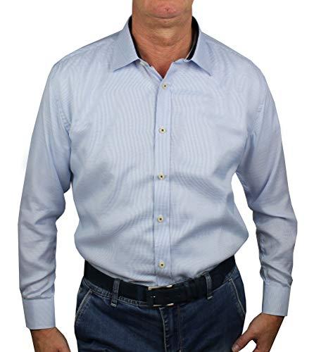0522801f4e25a1 1stAmerican Camicia Elegante da Uomo in Collo Classico Regular Fit 100%  Cotone Manica Lunga -