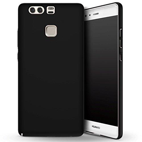 Apanphy Huawei P9 Hülle , Hohe Qualität Ultra Slim Harte Seidig Und Shell Volle Schutz Hinten Haut Fühlen Schutzhülle für Huawei P9, Schwarz