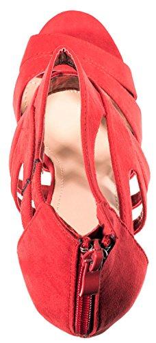 plateforme Talons Escarpins hauts Rouge Chaussures Femmes 7Bq6r5wqT