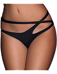 Tonsee Femmes Bandage ouvert entrejambe Crotchless Culottes Thong V-string Sous-vêtements Lingerie