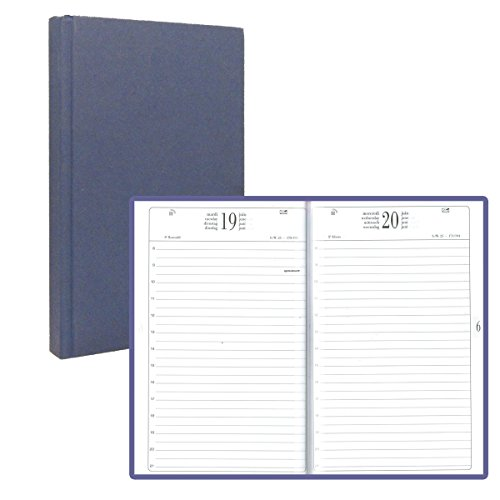 14x22 cm AGD Square – 1 Day a Page Diary – Through – Blue – 2018
