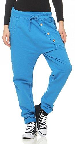 malito Urban Pantalón Boyfriend Baggy Aladin Bombacho Sudadera 3302 Mujer Talla Única (azul)