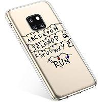 Uposao Handyhülle Huawei Mate 20 Pro Hülle Transparent Silikon Ultra Dünn Schutzhülle Durchsichtig Handyhülle Kristall Weiche Silikon TPU Handytasche Rückschale,Weihnachten Lichter
