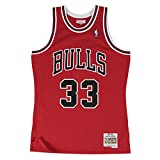 Mitchell & Ness Chicago Bulls 33 Scottie Pippen Swingman Retro Trikot Jersey (M, red)