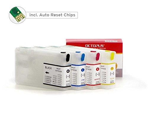 Cartucce d'inchiostro ricaricabili per inchiostro Epson 79, adatte per stampati Epson Workforce PRO WF-4600, 4630, 4640, 5100, 5110, 5190, 5600, 5620, 5690 (non OEM)