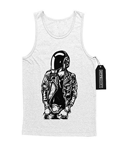 Punk Daft Kostüme Helm (Tank-Top Daft Punk Helm H549331 Weiß)