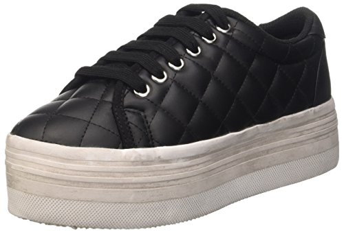 Jeffrey Campbell Quilted Lea Wash - Sneakers Donna, Nero, 36