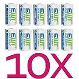 No1GS Batterie al litio, 1/2AA, 10pezzi aka 1/2R6| ER14250| LS14250. Di alta qualità. Nuovo articolo