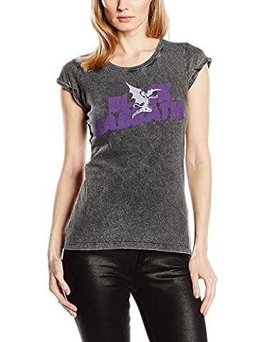 Black Sabbath - T-Shirt - Manches Courtes Femme - Gris - Small