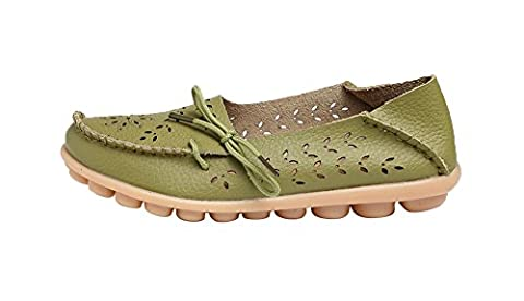 Verocara Women's Tanner Pebbled Comfortable Leather Hollow Out Lace Up