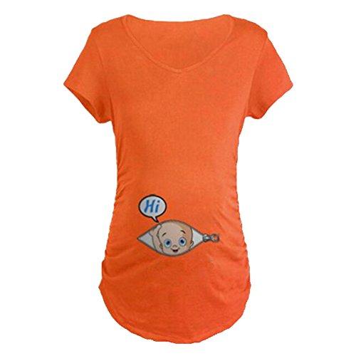 Gagacity Witzige Umstandsmode Süße Schwangere Maternity Damen Umstandsmode T-Shirts mit Mutterschafts-Niedliche Lustige Slogan Motiv Schwangerschaft Geschenk - Für Baby-geschenke Mama Neue
