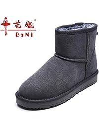 e0df5cdcd BYUYAN Las botas La Temporada de otoño e Invierno Botas de Nieve Femeninos  Zapatos de algodón Grueso y Corto Chica Caliente Botas…