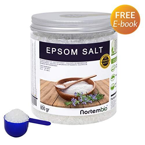Nortembio Sale di Epsom 800g Fonte Concentrata di Magnesio Sale Naturale al 100%. Bagno e Cura Personale.