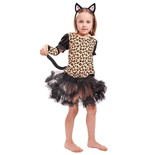 EraSpooky Tier Leopard Kostüm Faschingskostüme Cosplay Halloween Party Karneval Fastnacht Kleidung