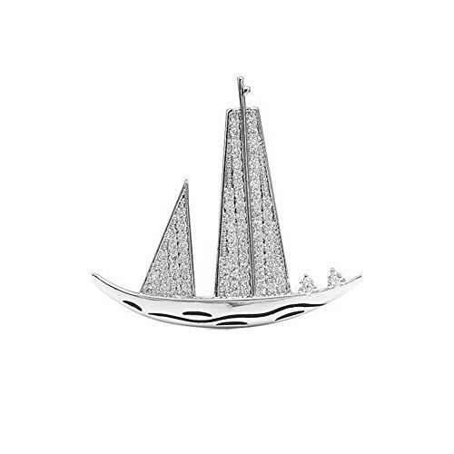 YDMSGSB Mode Segel Brosche Paar Silber