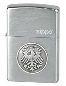 Zippo briquet en acier inoxydable brossé chromé/deutschland adler