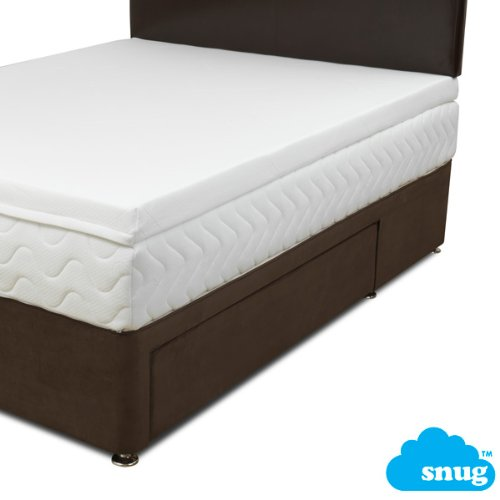 Snug Memory foam Mattress Topper V60 Gold with Coolmax zipped cover 10cm / 4