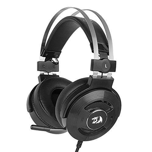Redragon H991Triton Wired aktiver Geräuschunterdrückung Gaming Headset, 7.1Channel Surround Stereo ANC über Ohr Kopfhörer mit Mircophone, Leder in-Ear, mit USB-Port, funktioniert für PC, Notebook