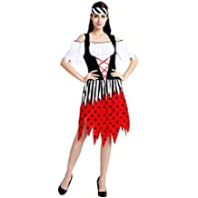 thematys® Costume da Pirata per Donna - Perfetto per Cosplay 994c1e24ec0c