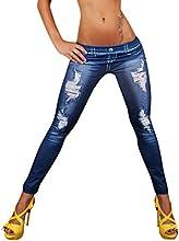 Molly Mujer Pantalones Elásticos Leggings Elastic Faux Jeans