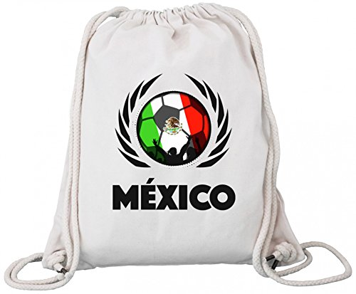 Mexico Fanfest Football Wm Borsa Da Ginnastica In Cotone Organico Zaino Borsa Da Ginnastica Calcio Messico Naturale