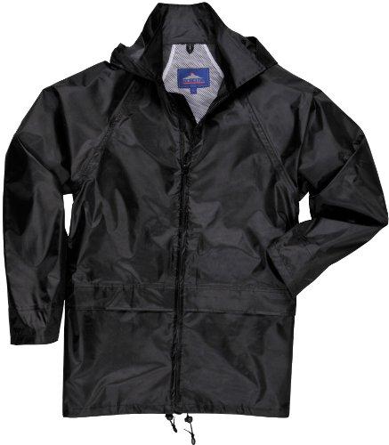 Preisvergleich Produktbild PORTWEST S440BKRL - Klassische Regenjacke, schwarz, Größe: L