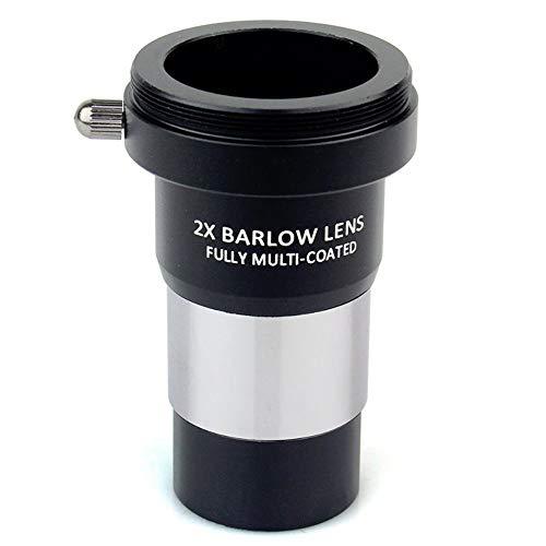 TWWYJGC 1,25 2X Barlow-Objektiv Vollvergütetes Metall Mit M42X0,75-Gewinde Kamera-Verbindungsschnittstelle Für Teleskopokulare