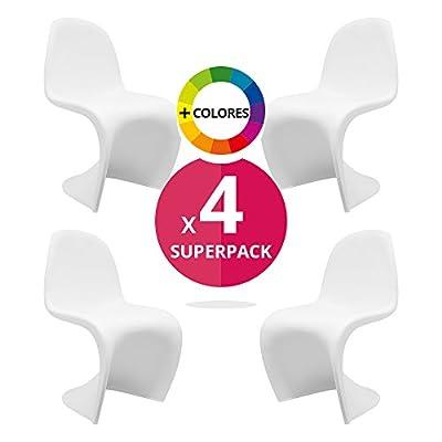 cadeauxMiguel - Pack de 4 Chaises Venus blanc
