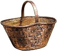 Cesto cestino portaoggetti porta vaso in rame lavorato a mano