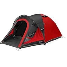 Coleman Tent The BlackOut 3, 3 man Festival Camping tent with BlackOut Bedroom Technology, Festival Essential, 3 Person Dome Tent, 100% waterproof with sewn in groundsheet