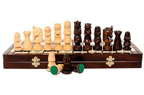 Luxus GIEWONT 50x50cm. Erstaunlich, hölzerne Schach Set mit gewogenen Stücke gehauen!!!