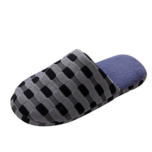 Femme / Homme Chausson Mule Hiver Interieux isotoner Pantoufles 39-43 Bleu