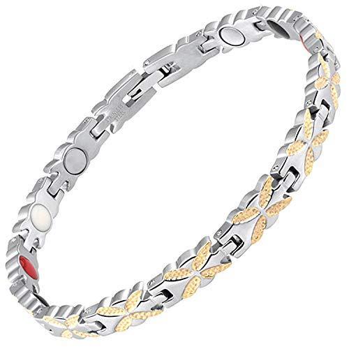Damen Magnetisch bracelets-all sizes-4in 1Damen Magnet Armbänder Gesundheit für Schmerzen Arthritis Karpaltunnelsyndrom Balance Armband für women-bfyg 16 cm / 6.3 in