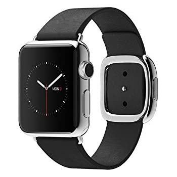 "Apple Watch 1.32"" OLED 40g Acero inoxidable reloj inteligente - relojes inteligentes (Acero inoxidable, Acero inoxidable, Negro, Cuero, Rectangular, Zafiro)"
