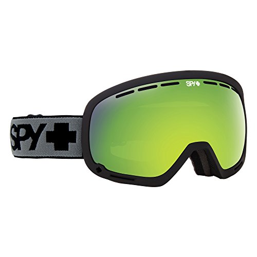 Spy Marshall Black Skibrille, Bronze mit Green Spectra/Yellow Contact, One Size
