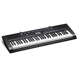 Casio CTK-1200 - Teclado electrónico (61 teclas, 100 tonos, 100 ritmos y 100 melodías), color negro