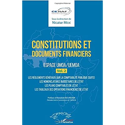 Constitutions et documents financiers Vol 2 Espace UMOA/UEMOA