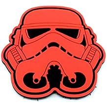 Stormtrooper Casco Rojo Star Wars Patch PVC Airsoft Velcro