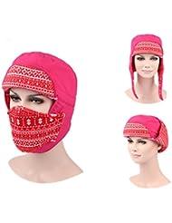 Oreille d'hiver unisexe Flap Hat faciaux couverture masque Cap chaud chasse chapeau