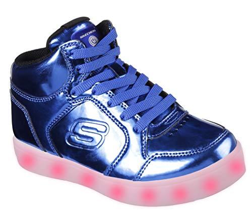 Teal Patent Schuhe (Skechers Jungen Energy Lights - Eliptic Sneaker, Blau (Royal), 29 EU)