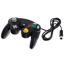 Smartfox Classic Controller Gamepad Joypad Joystick für Nintendo GameCube und Nintendo Wii (1. Generation RVL-001) mit Vibrationseffekt in schwarz