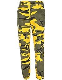 Amazon.fr   Pantalon Militaire Femme - Jaune   Vêtements 33ff6dc15dc