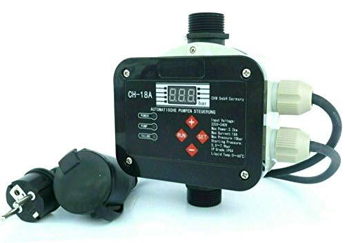 CHM GmbH Digitale vollautomatische Pumpensteuerung CH18 A mit Sensor Technologie ! Master-Chip und Drucksensor steuern das EIN- und Ausschalten der Pumpe. Für Pumpen bis 2,2 kW. -