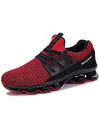 WSK Las Zapatillas de Deporte de Malla de Malla Transpirable para Hombres  Zapatos Casuales con Zapatos de Hombre Aumentan el Tamaño… a5aff64ea3720