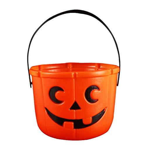HEALIFTY 2pcs Halloween Kürbis Eimer Süßigkeiten Korb Süßes oder Saures Eimer Party Favors mit Kerzenlicht (Geschenk-körbe Halloween Für)