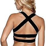 Snailify Damen Sport BH X-Rücken Kreuz Träger Racerback Starker Halt Ohne Bügel - Bra für Yoga Joggen Fitness Training Tanz