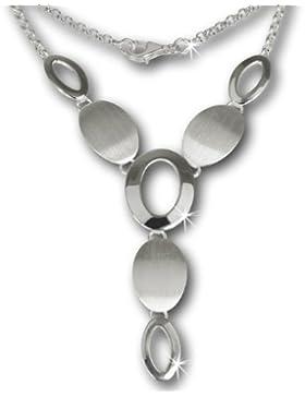 SilberDream Collier Kette Dream matt und poliert 925 Vollsilber 45cm Halskette SDK412