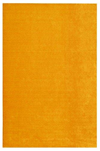 Morgenland Feiner Loribaft Gabbeh Teppich TEPPSTAR 160 x 90 cm Gold Einfarbig Uni Modern Orient...